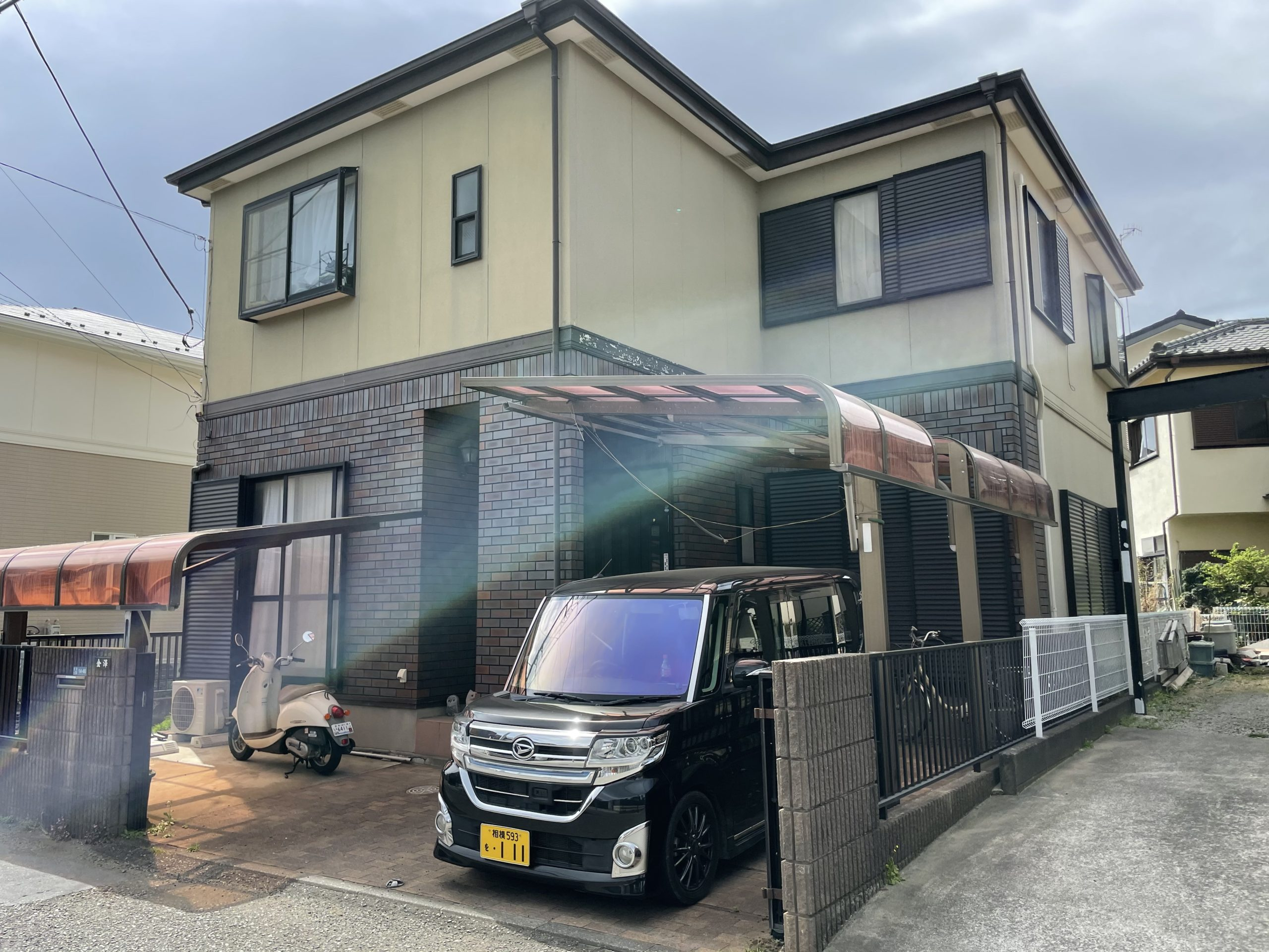 茅ヶ崎市松林 K様邸外壁・屋根塗装工事